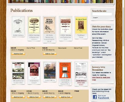 The screen capture on the left side of Figure 1 shows thumbnail images of the publications for sale by the H E A T G G