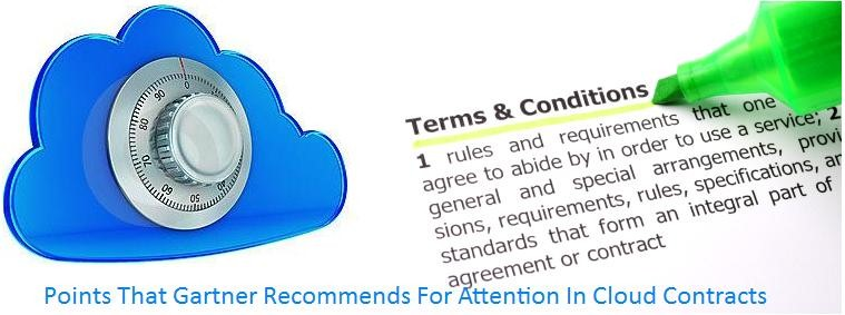 A cloud with a combination lock on it next to a document highlighting terms and conditions.