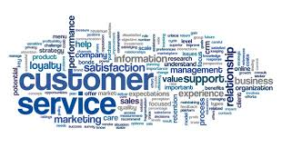 Customer service concept in word cloud