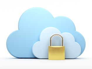 Clouds With Padlock