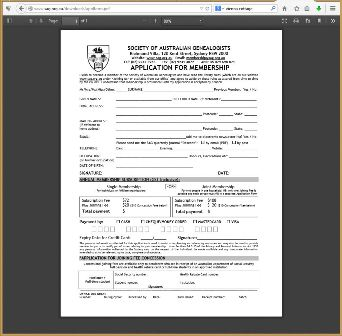 The screen capture on the right side of Figure 3 shows the printable SAG membership form; it is an Adobe Acrobat PDF document.""
