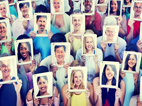 Social Media   identify your audience different faces
