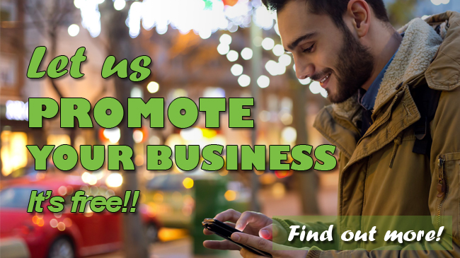 let us promote your business, it's free! Find out more!